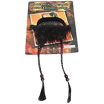 themattys Jack Sparrow Barba appiccicosa Black - Costume Pirata per Adulti  e Bambini - Perfetto per 012d2898612b