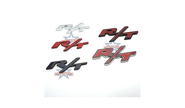 2 adesivi decorativi in metallo R//T adatti per etichettatura Do-d-ge R//T