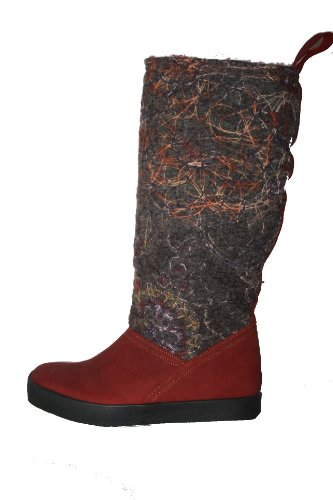 Think hauchal 87058 bottes femme-noir Rouge - Rot (Rosso/Kombi 72)