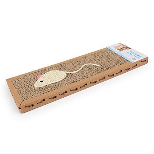 WEIHANFunny Cat Claws Sisal Köder Flat Cat Scratch Board Wellpappe Katzenspielzeug Heimtierbedarf -