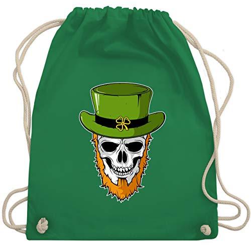 St. Patricks Day - St. Patricks Day - Totenkopf - Unisize - Grün - WM110 - Turnbeutel & Gym Bag (Große Bärtige Kostüm)