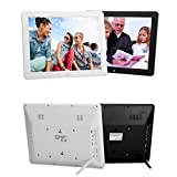 NINI Digital Photo Frame 12-Zoll Widescreen Acryl Border HD Multifunktionswerbemaschine,White Bild