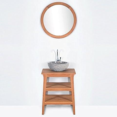 Meuble salle de bain KANPUR en teck largeur 60 cm