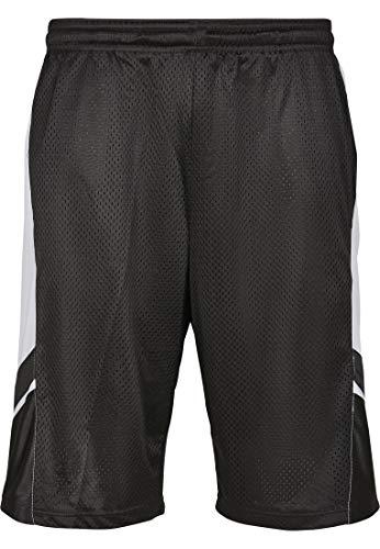 Direkte Mesh Shorts (Southpole Herren Basketball Mesh Shorts Black, XL)