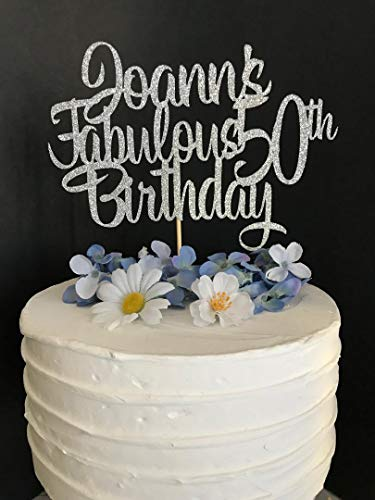 Fabulous Birthday Cake Topper Personalized Custom