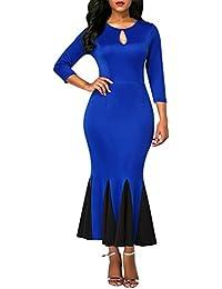 Retro BOW Schleifen VOLANT Rüschen KLEID Azurblau Rockabilly Vintage Dress