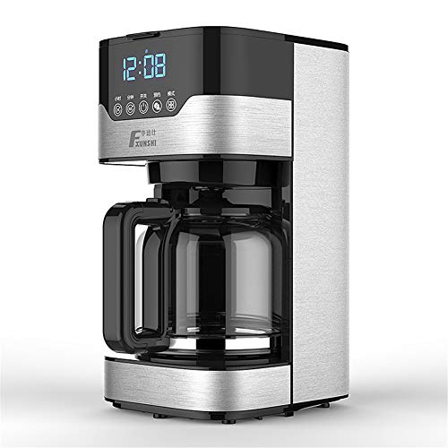 Hebry Espressomaschinen, Kaffeemaschine All-Steel American Automatische Dual-Use-Kaffeekanne Haushalt Tee-Maschine