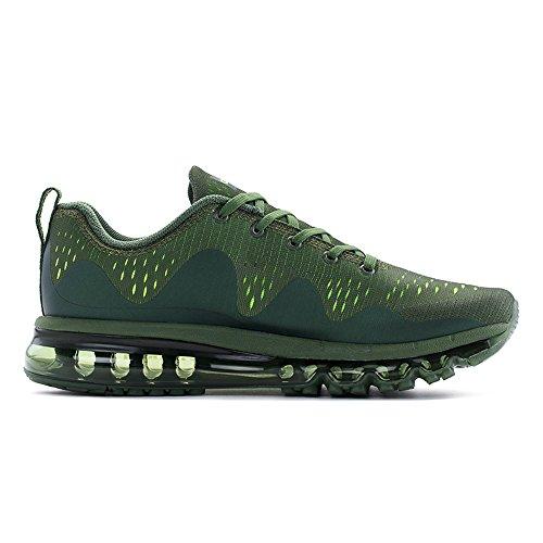 Onemix all'aperto Air Uomo Donna Scarpe da Ginnastica Corsa Sportive Running Sneakers Fitness Interior Casual all'Aperto Verde