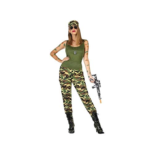 Atosa-54131 Disfraz Militar, Color Verde, M-L (54131)