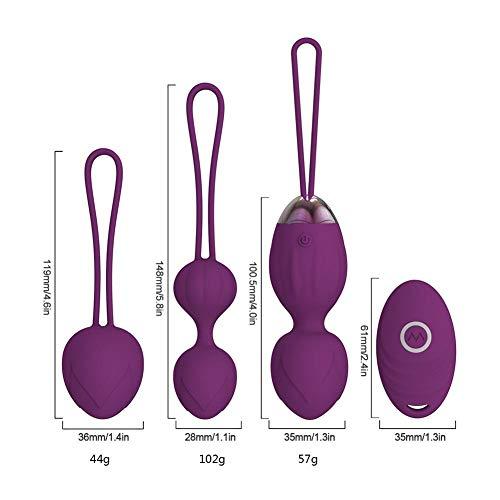 Bolas De Ejercicios Kegel 2 En 1 Kegel Balls Bolas Chinas De Silicona Médica Kit Con Control Remoto Inalámbrico De Silicona Mejorado Por HELLOOHOME