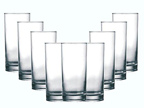 Gläser-Set Amster 12 teilig | Füllmenge: 270 ml | Ein Glas für alle Getränke - der perfekte Allrounder | Saft-Wasser-Gläser Longdrink Cocktail