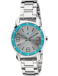 Fastrack Analog Silver Dial Women's Watch -NK6111SM01