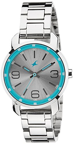 fastrack analog silver dial women's watch - 6111sm01 Fastrack Analog Silver Dial Women's Watch – 6111SM01 41OFQBKni9L