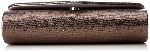 L.CREDI Damen Dubai Clutch, 5.5x10.5x24 cm Braun (Bronze)