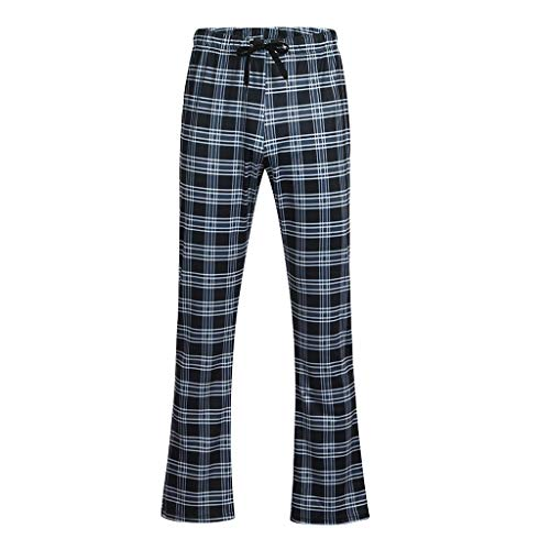 Pantalone Uomo Pantaloncini Jeans/Cravatta con Coulisse Stampata a Quadri in Vita Casual da Uomo Primavera e Estate Pantaloni Slim a Gamba Larga Slim/Grigio/M-XXL