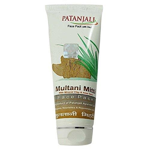 Patanjali Multani Mitti Face Pack (60GM, Pack of 4)