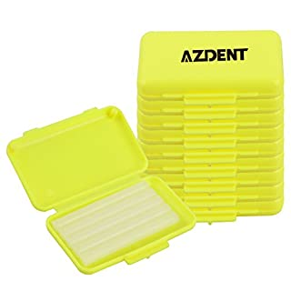 AZDENT®Orthodontic Bracket Protector Lemon Taste Dental Wax Strips for Braces Wearer(10 Boxes)