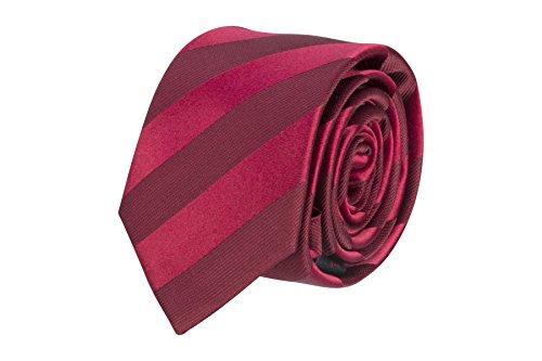 Red Oak Herren Krawatte Modell Striped verschiede Farben (Rot)