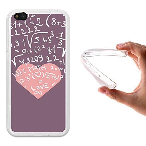 WoowCase Xiaomi Mi 5c Hülle, Handyhülle Silikon für [ Xiaomi Mi 5c ] Herz Mathematische Formeln Handytasche Handy Cover Case Schutzhülle Flexible TPU - Transparent