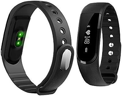 fenyi id101OLED Heart Rate Monitor Reloj Inteligente Bluetooth Pulsera Inteligente de seguimiento de actividad y sueño Muñequera Salud Fitness Tracker Reloj Deportivo Para Smartphone Android IOS iPhone