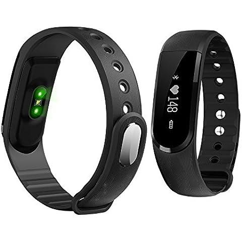 fenyi id101OLED Heart Rate Monitor Reloj Inteligente Bluetooth Pulsera Inteligente de seguimiento de actividad y sueño Muñequera Salud Fitness Tracker Reloj Deportivo Para Smartphone Android IOS iPhone, 0.44 pounds, color