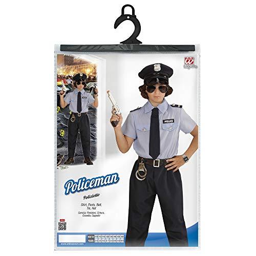 d915328563 WIDMANN- Poliziotto Camicia Pantaloni Cintura Cravatta Cappello Costumi  Completo 861 per Adulti, Multicolore, 140 cm / 8-10 anni, 8003558040278