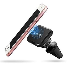 Coolreall Soporte Magn tico de Mov l Coche Universal para iPhone 7 6s Plus 5 5S Samsung Galaxy S6 S5 S4 Note 4 3 Google Nexus Xiaomi GPS Negro