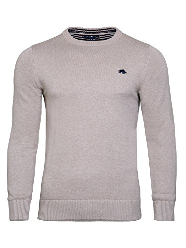 Raging Bull da uomo maglione girocollo Signature, Uomo, Signature Crew Neck, Cream, 4X-L