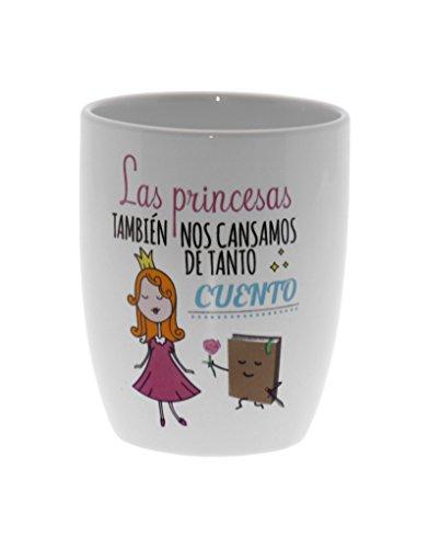 Taza Desayuno Cerámica Decorada Princesa