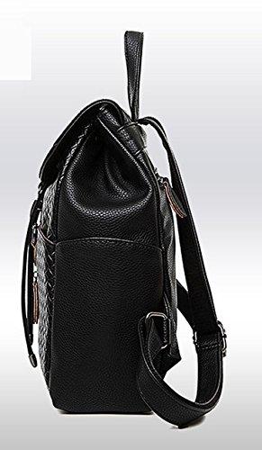 Keshi Pu neuer Stil Damen accessories hohe Qualität Einfache Tasche Schultertasche Freizeitrucksack Tasche Rucksäcke Blau