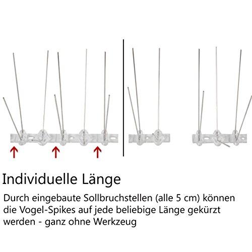 3 Meter Edelstahl Taubenabwehr 4 Reihig Gesamtlange 300 Cm 6