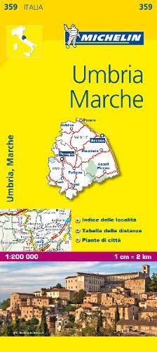 Mapa Local Italia. Umbria E Marche Mapas Local Michelin
