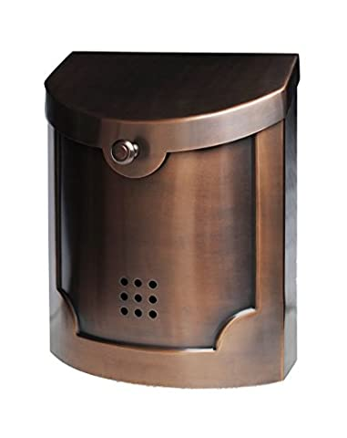 Ecco E4 Mailbox - E4AC Large - Antique Copper Finish - Wall Mounted Mailbox