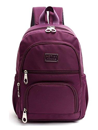 Keshi Nylon Niedlich Damen accessories hohe Qualität Einfache Tasche Schultertasche Freizeitrucksack Tasche Rucksäcke Lila 2