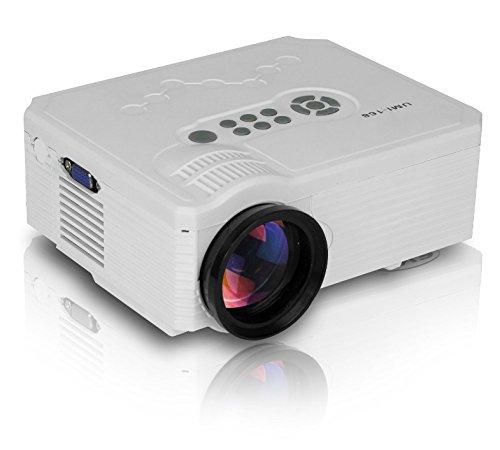 Aodeneng® proiettori multimediali mini proiettore portatile LED 500 lumen 640 * 480 Risoluzione con staffa per Home / Cinema / Teatro supporto USB / SD / VGA / HDMI / AV / TV (umi-168-Bianco)
