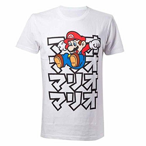 Nintendo T-Shirt -L- Japanese Mario, Weiss [Importación Francesa]