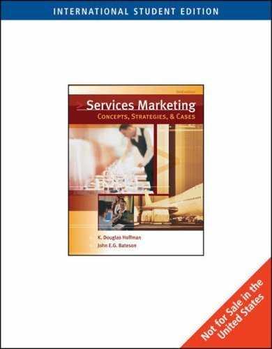 Essentials of Services Marketing: Concepts, Strategies and Cases by K. Hoffman (2005-12-16)