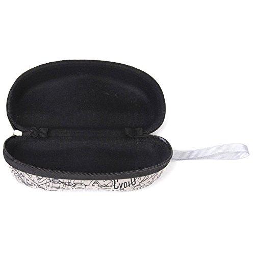 Yeah67886Vogue Sonnenbrillen-Etui mit Reißverschluss und Tragschlaufe Buchstaben-Design (grau)
