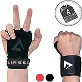 Aireez® 2 in 1 Crossfit Handschuhe - Pull up Grips Für Handschutz & Handgelenk Bandagen Set, Hand Grips, Calisthenics Handschuhe, Turnen Riemchen (Damen & Herren) für Freeletics, Gymsnatik & Wodies