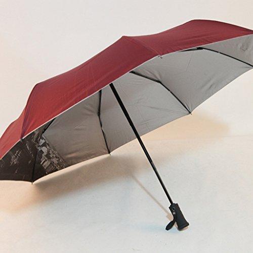 GTWP GT Regenschirm Automatik, Nacht, beleuchtet, LED Regenschirm, Dreifachfalte, Falte, sonniger Regenschirm, Sonnenschirm