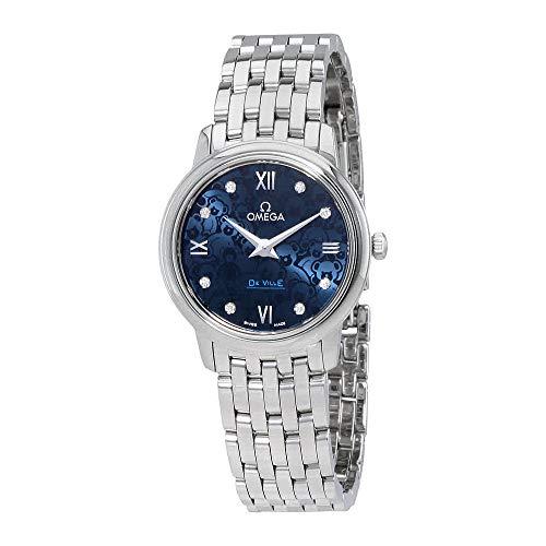 Omega de Ville blu quadrante orologio da donna 424.10.27.60.53.003