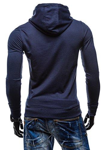 BOLF - Felpa con cappuccio – STEGOL AK41 - Uomo Blu scuro