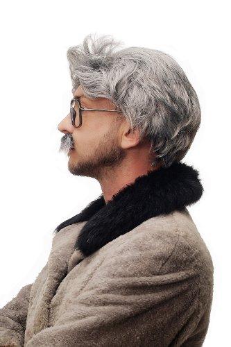 WIG-ME-UP–4129-P103-68A-Peluca-y-Bigote-gris-Carnaval-Halloween-Einstein-abuelo-viejo-cientfico-loco-Mad-Scientist-profesor