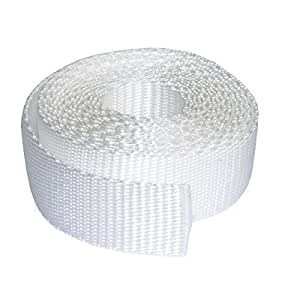 25mm Polypropylene Webbing, Sold by the Metre (white)