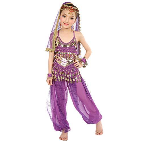 Magogo Mädchen Bauchtanz Kostüm, Kinder Arabische Prinzessin Chiffon -