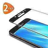 Bewahly Protector de Pantalla Samsung Galaxy J5 2017, 3D Cobertura Completa Cristal Templado para Samsung Galaxy J5 2017, 9H Alta Definicion sin Burbujas [2 Piezas]
