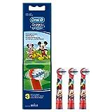 Oral-B Stages Testine di Ricambio con Personaggi Disney, 3 Pezzi, Modelli Assortiti