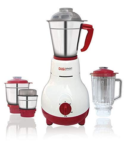 DIGISMART Kitchen Mate 4 Jars 750 WATTS Fully ABS Body Mixer Grinder (White)