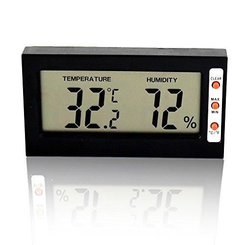 Szaerfa Digitales Thermometer Hygrometer Innen LCD-Bildschirm Zimmer Thermometer Hygrometer Luftfeuchtigkeit für Küche Schlafzimmer Baby Zimmer Celsius oder Fahrenheit (Zimmer Bildschirm)