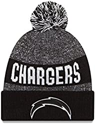 San Diego chargeurs Noir sur champ 2016Sport en tricot Sideline Bonnet Casquette NFL New Era